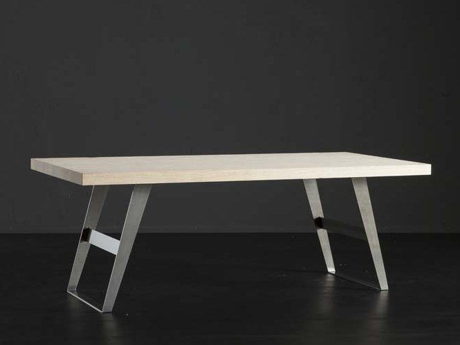 Rectangular wooden dining table NIZZA + IRON by AltaCorte