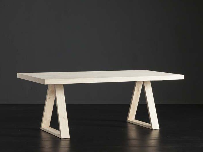 Rectangular wooden dining table NIZZA + MEKANO by AltaCorte