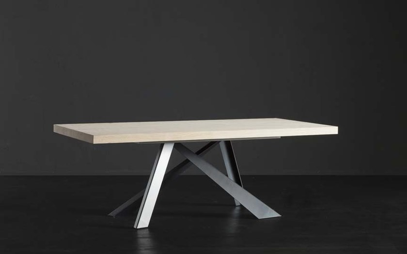 Rectangular wooden dining table NIZZA + METAL by AltaCorte