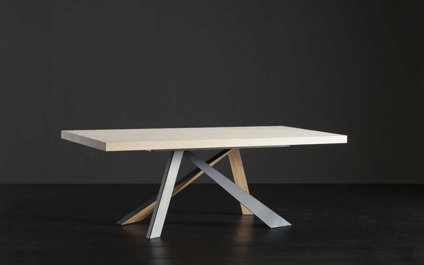 Rectangular wooden dining table NIZZA + METAL/LEGNO by AltaCorte