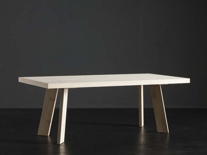 Rectangular wooden dining table NIZZA + STREET by AltaCorte