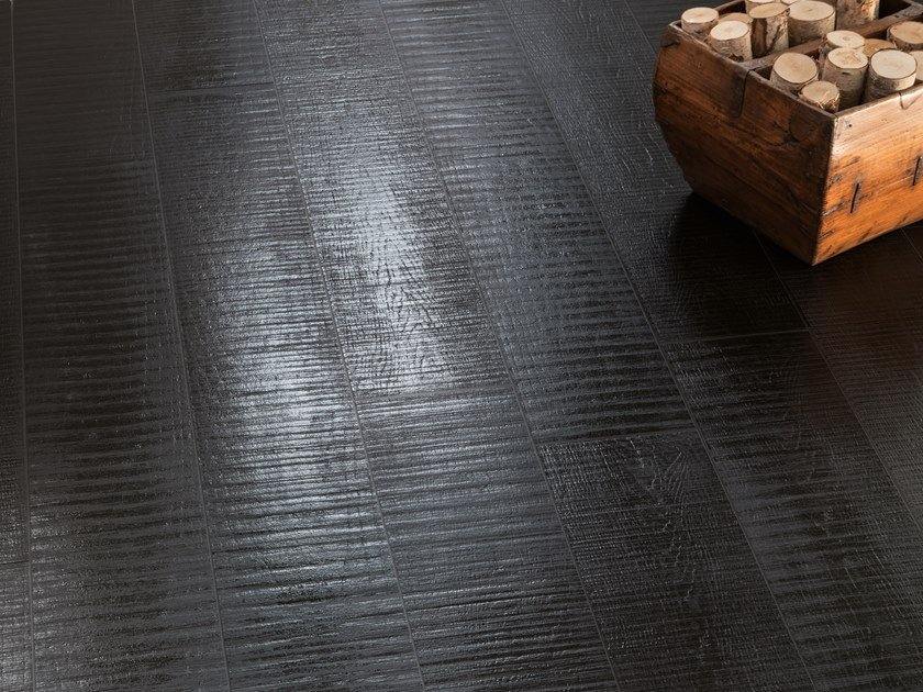 Porcelain stoneware wall/floor tiles with wood effect NO-CODE LEGNO LACCATO NERO by Viva by Emilgroup