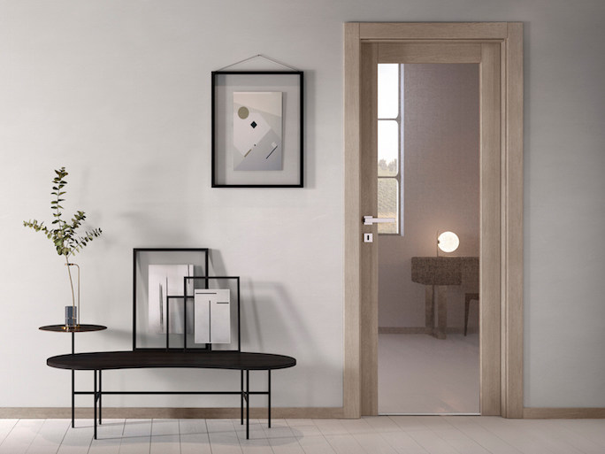 Hinged glass door with concealed hinges NO LIMITS | Glass door by GIDEA