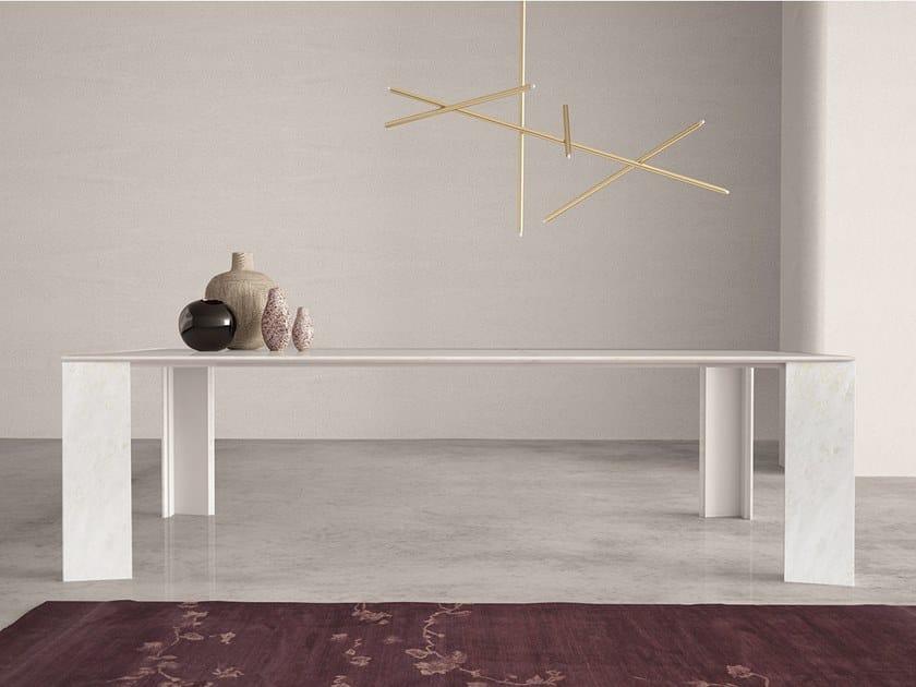 Rectangular marble table NOA   Rectangular table by International Marmi