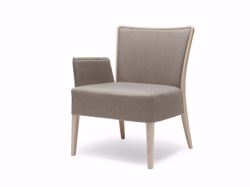 Fabric armchair with armrests NOB 229 by Origins 1971