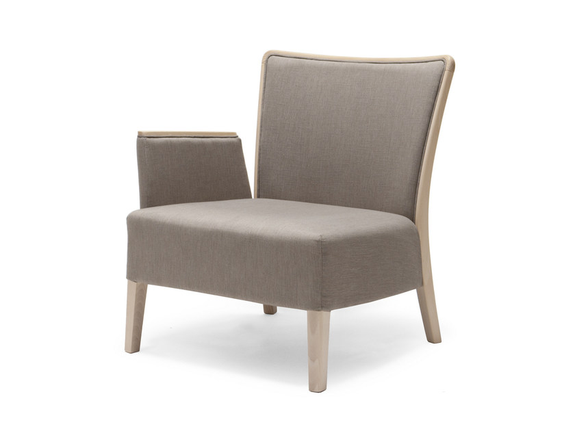 Fabric armchair with armrests NOB 232 by Origins 1971