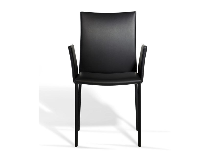 Leather chair with armrests NOBILE SOFT | Chair with armrests by Draenert