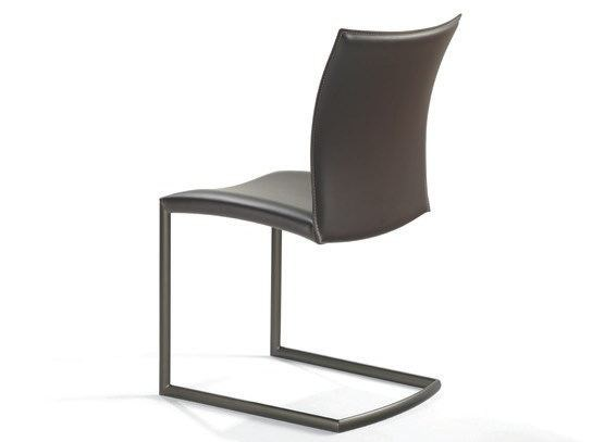 Cantilever leather chair NOBILE SWING | Cantilever chair by Draenert