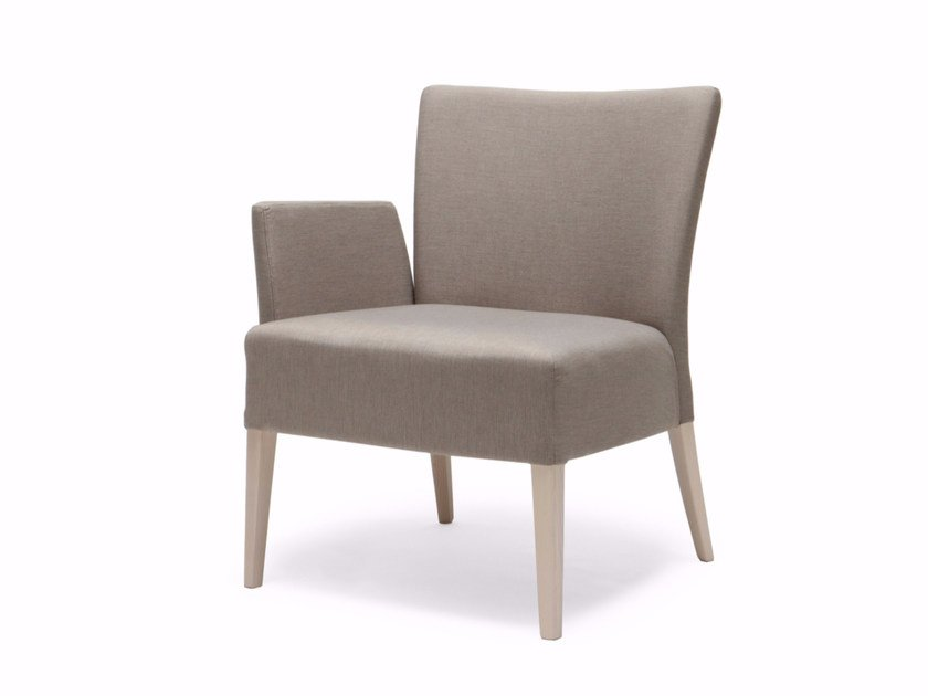 Upholstered fabric armchair with armrests NOBLESSE 212 by Origins 1971