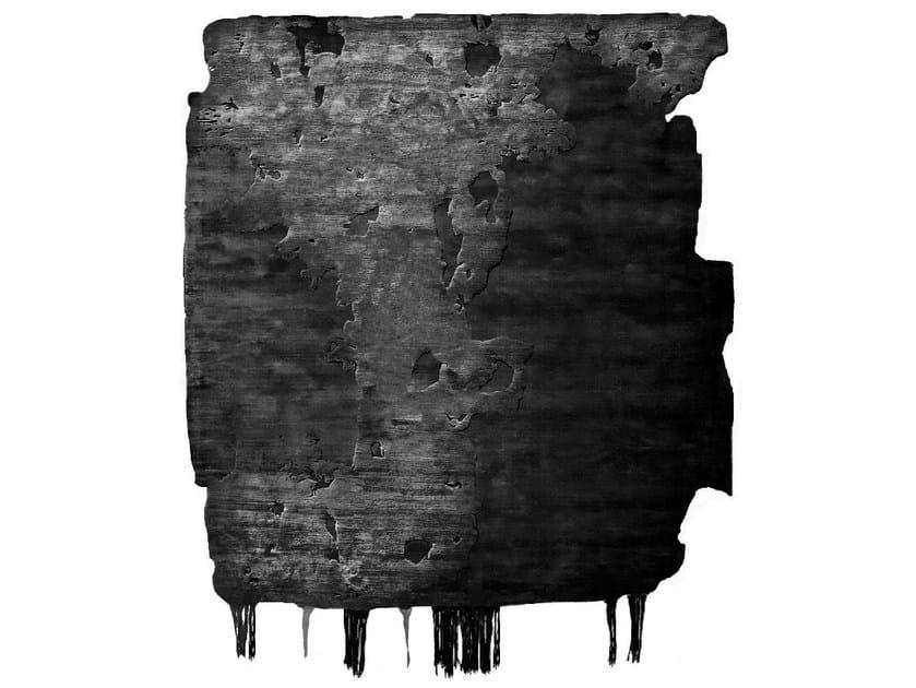 Handmade rug NOBU ICE CUT BLACK DUST by HENZEL STUDIO