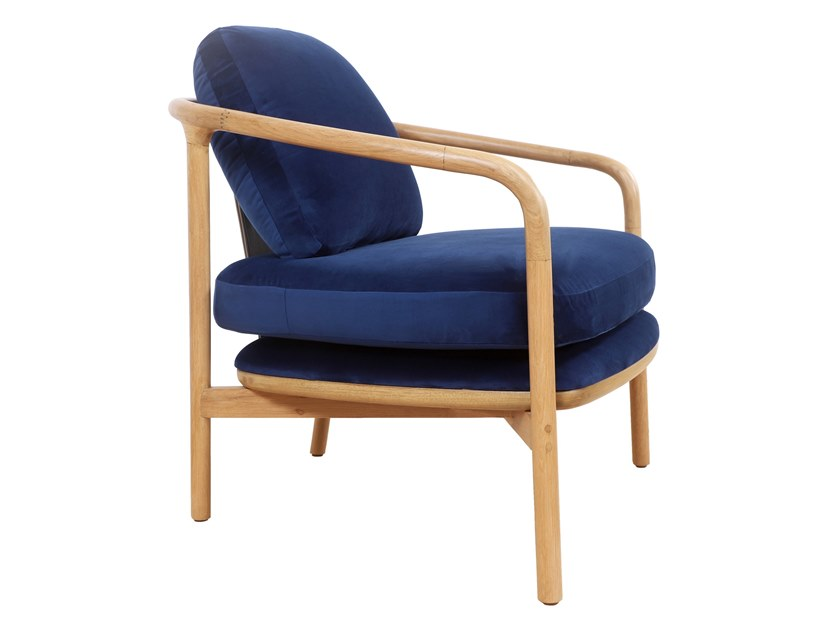 Fabric easy chair with armrests NOFO | Fabric easy chair by ALANKARAM