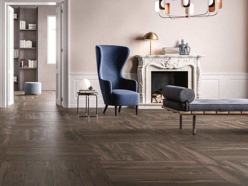 Porcelain stoneware wall/floor tiles with wood effect NOISETTE by GranitiFiandre