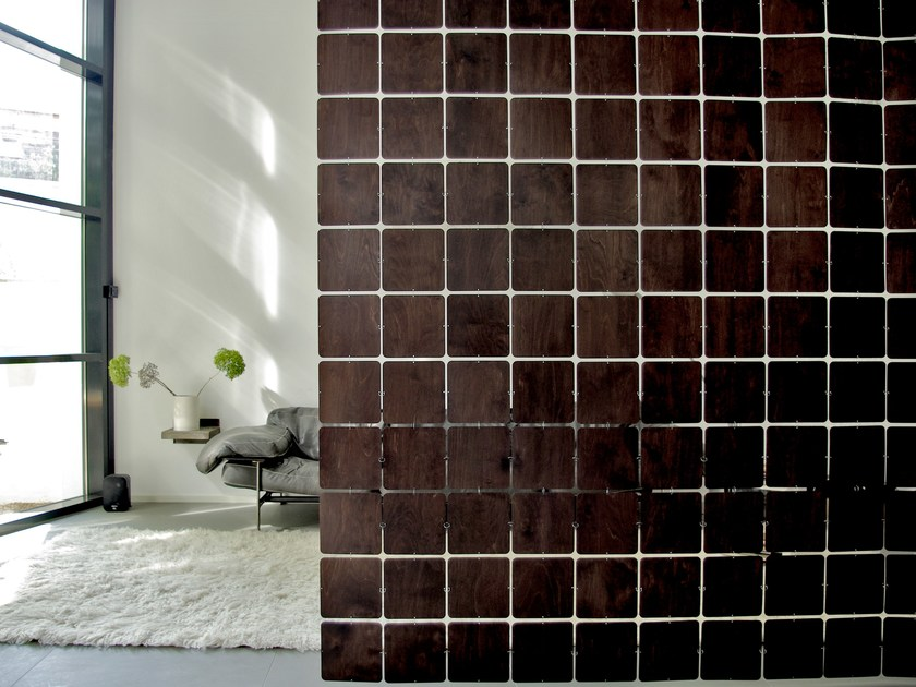 Plywood wall tiles room divider NOLASTAR WOOD By nolastar