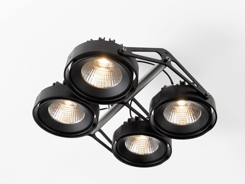 Modular Nomad Lamp : Led ceiling adjustable spotlight nomad nomad collection by