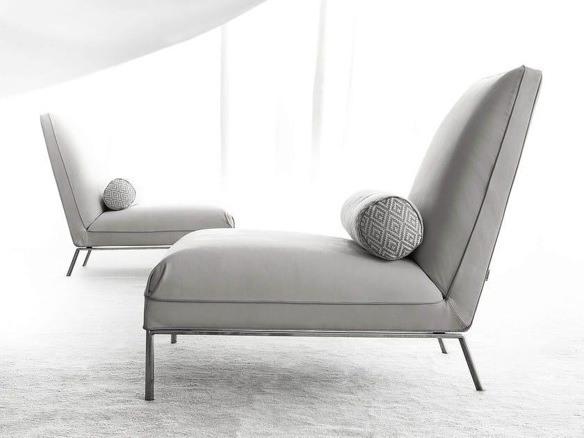 Fabric easy chair NOMADE by ERBA ITALIA