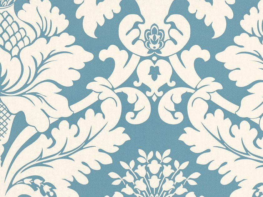 Damask wallpaper with textile effect NON-TROPPO by Equipo DRT