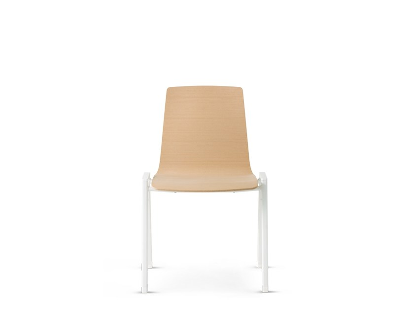 Stackable wooden chair NOOI | Chair by Wiesner-Hager