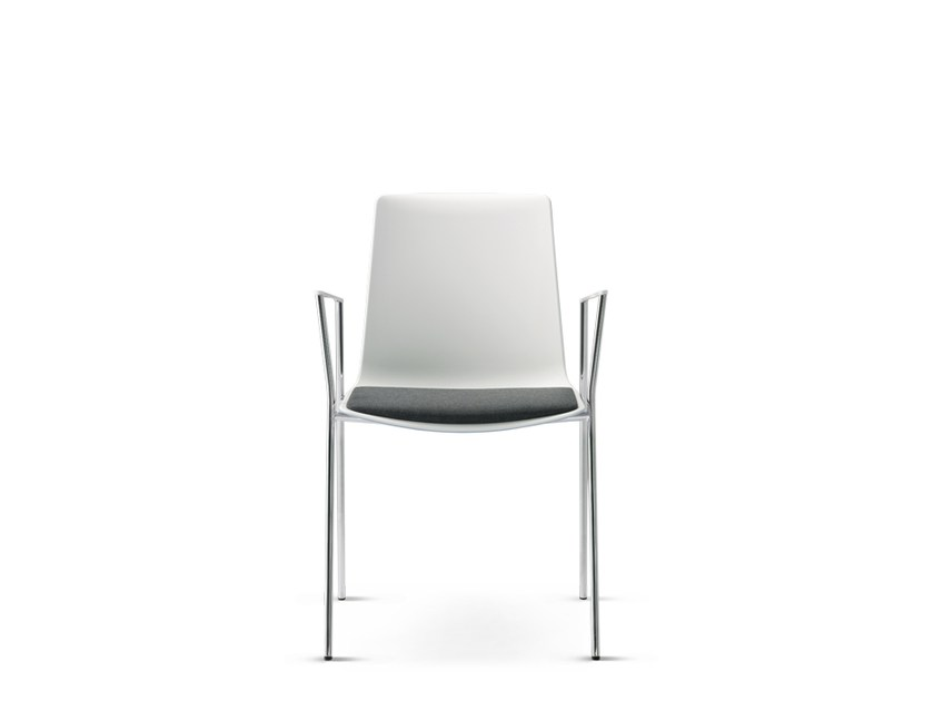 Stackable chair with armrests NOOI   Chair with armrests by Wiesner-Hager