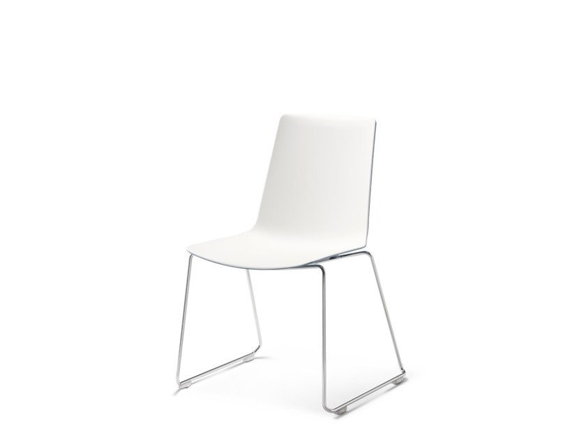 Sled base stackable chair NOOI | Sled base chair by Wiesner-Hager