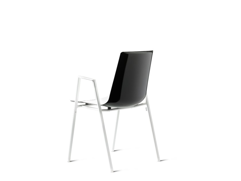 Stackable chair with armrests NOOI | Stackable chair by Wiesner-Hager