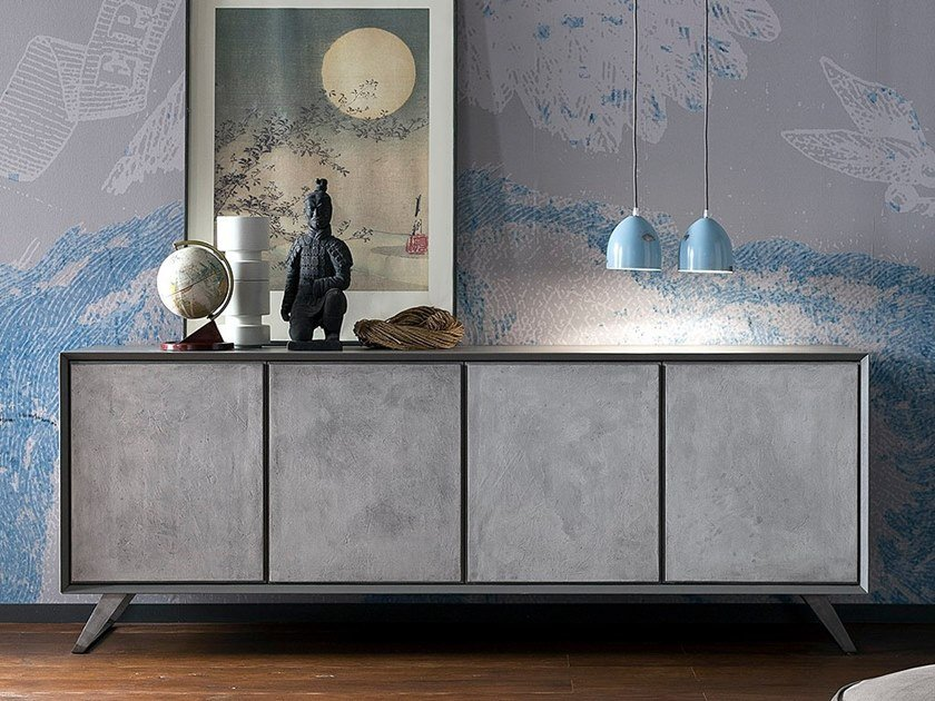 Cement sideboard with doors NOOK | Cement sideboard by AltaCorte