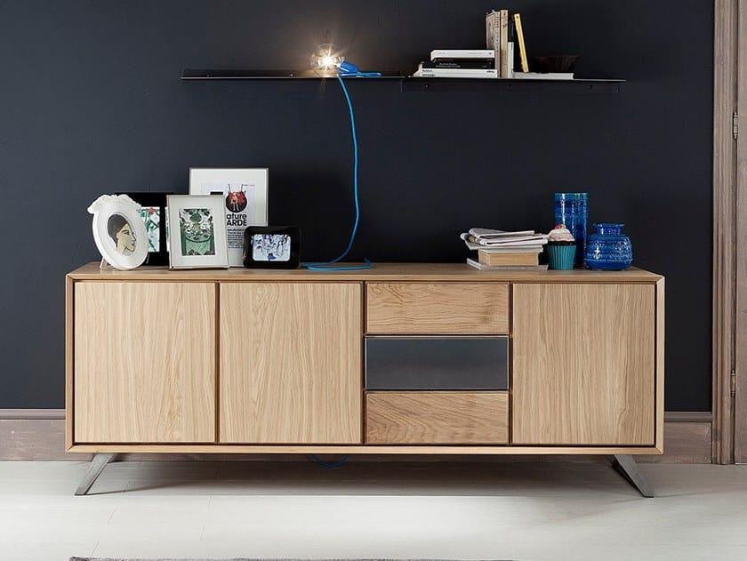 Oak sideboard with drawers NOOK | Oak sideboard by AltaCorte