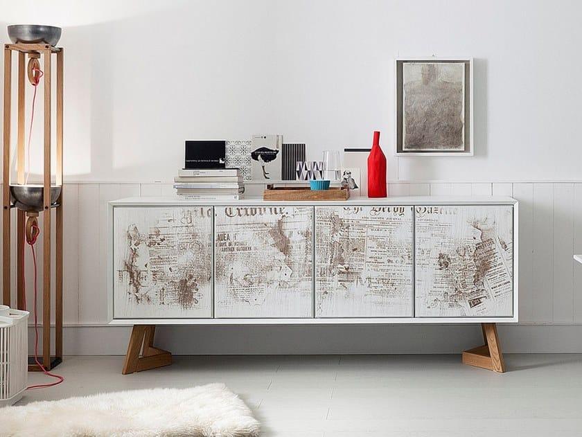 Oak sideboard with doors NOOK + SEVEN by AltaCorte