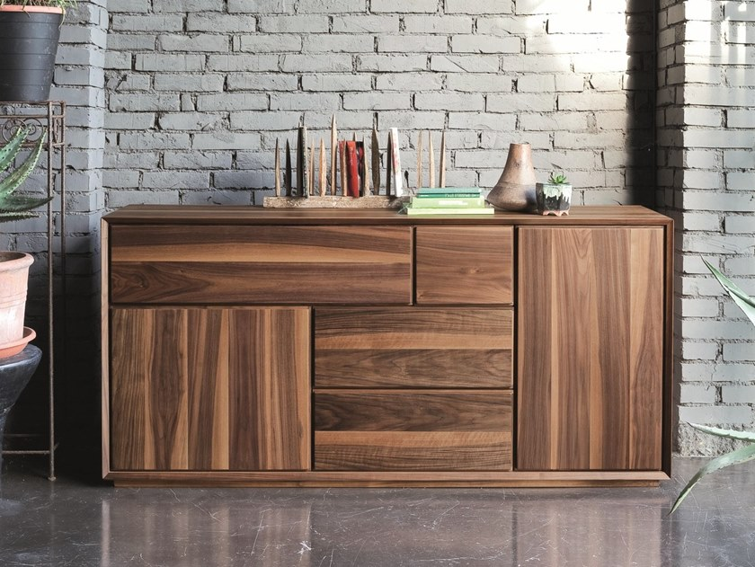 Walnut sideboard with doors NOOK | Walnut sideboard by AltaCorte