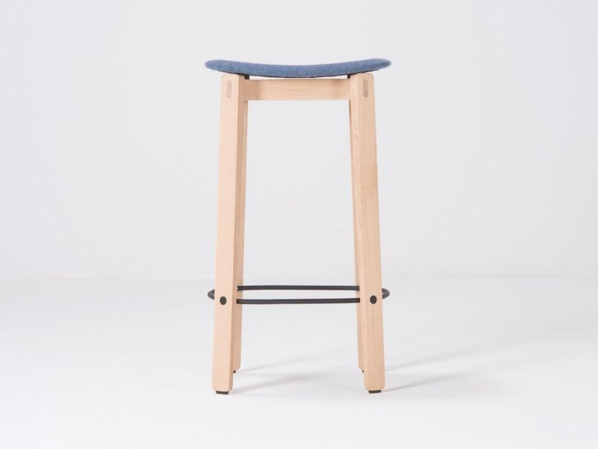Fabric barstool with footrest NORA | Fabric stool by Gazzda