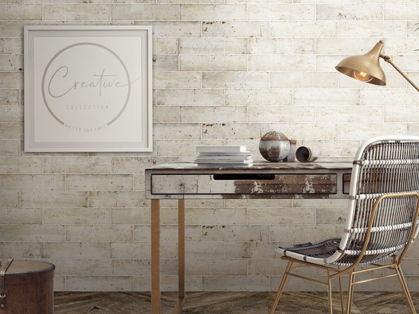 White-paste wall tiles with brick effect NORAI by ITT Ceramic