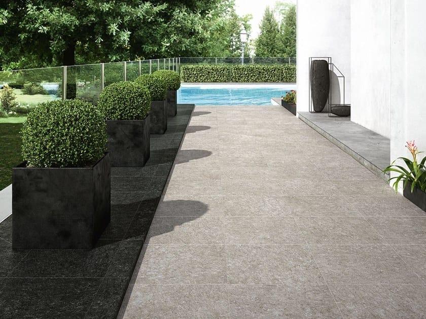 Porcelain stoneware outdoor floor tiles with stone effect NORD | Outdoor floor tiles by FAP ceramiche