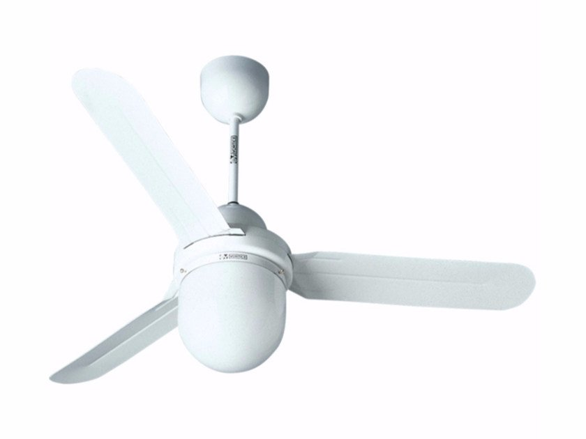 Ceiling fan with integrated lighting NORDIK 1S/L 140/56 WITHOUT GR.COM. by Vortice