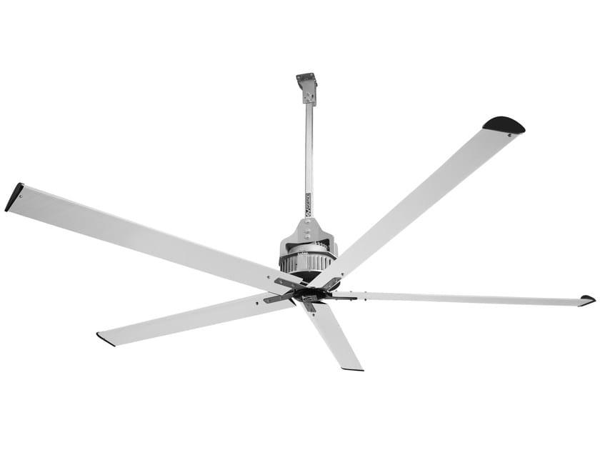"""Hanging metal Fan NORDIK HVLS SUPER BLADE 600/240"""" by Vortice"""