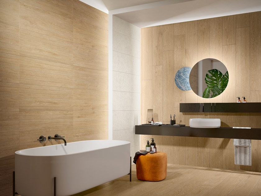 Indoor ceramic wall tiles with wood effect NORDIK LINES by Revigrés