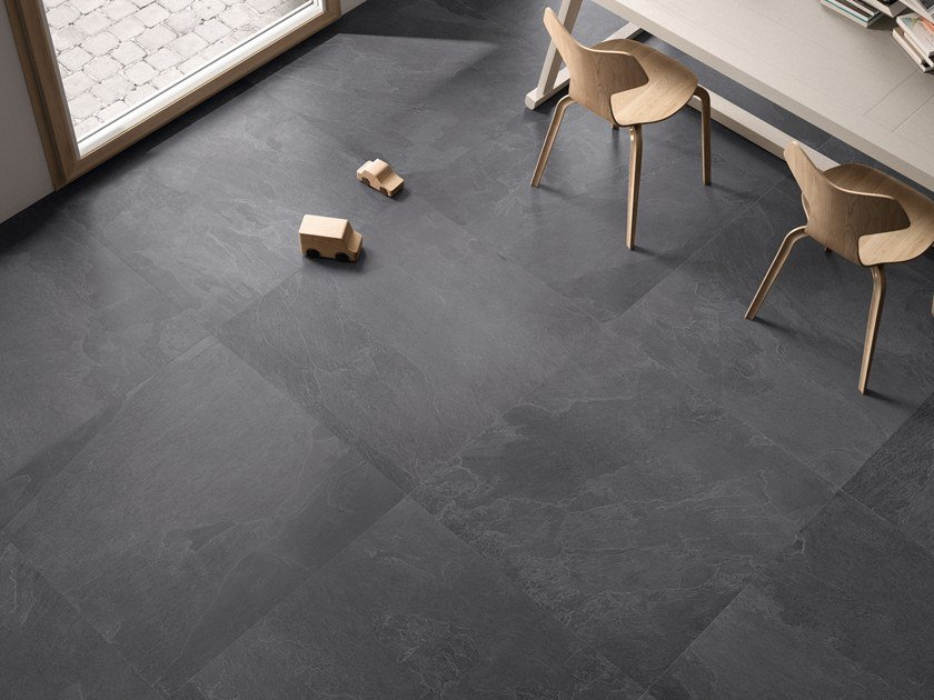 Indooroutdoor Porcelain Stoneware Wallfloor Tiles Nordika Dark