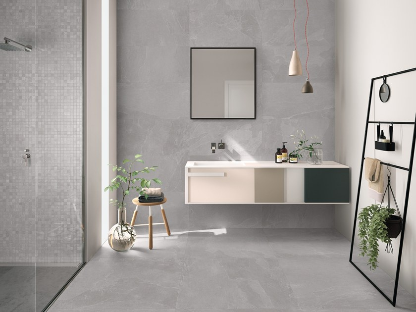 Indoor/outdoor porcelain stoneware wall/floor tiles NORDIKA GREY by EmilCeramica by Emilgroup