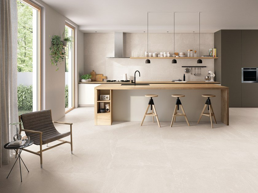 Indoor/outdoor porcelain stoneware wall/floor tiles NORDIKA SAND by EmilCeramica by Emilgroup