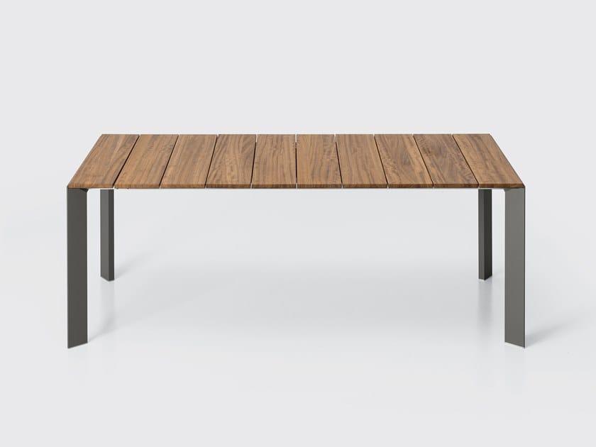 NORI | Tavolo in teak By Kristalia design Bartoli Design