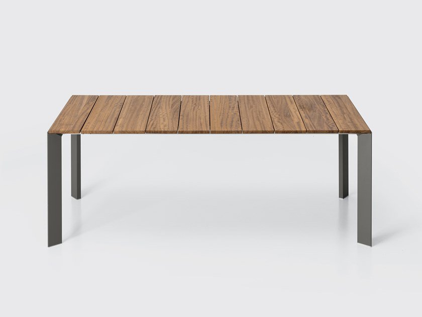 Extending rectangular teak table NORI   Teak table by Kristalia