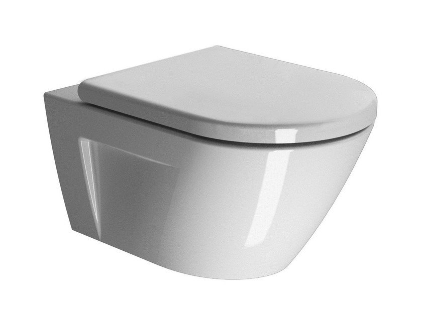Wall-hung ceramic toilet NORM 55   Wall-hung toilet by GSI ceramica