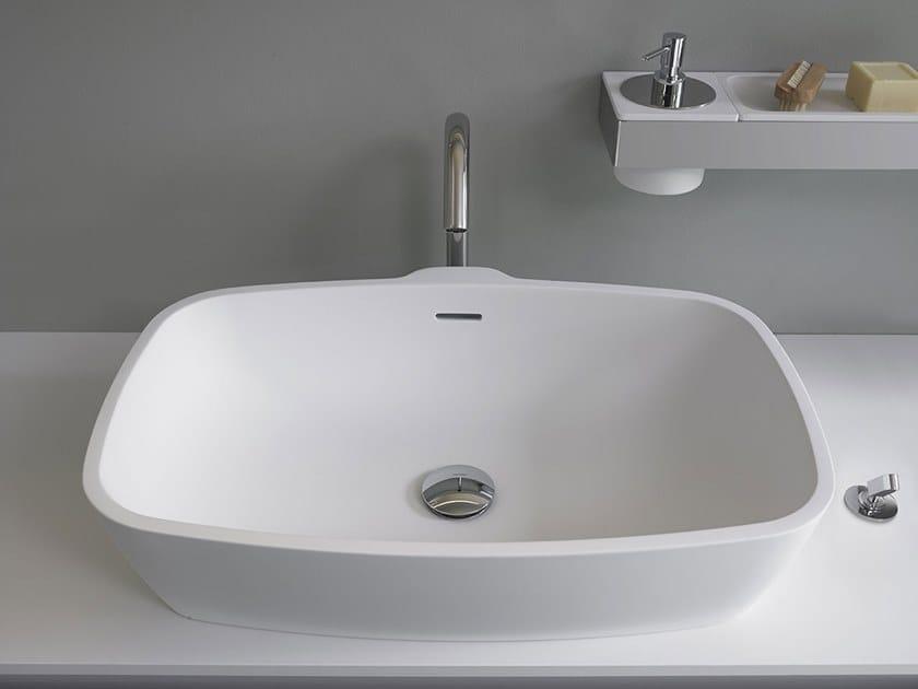 Countertop rectangular Cristalplant® washbasin NORMAL | Washbasin by Agape