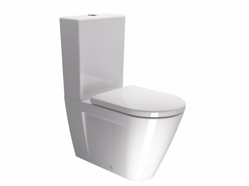 Close coupled ceramic toilet NORM 68 | Close coupled toilet by GSI ceramica