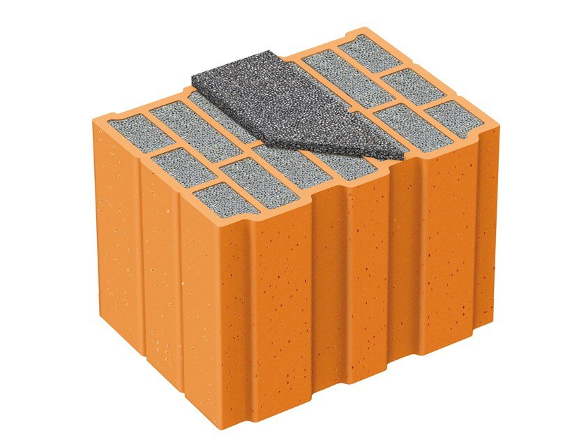 Thermal insulating clay block NORMABLOK PIÙ S35 HP by Fornaci Laterizi Danesi