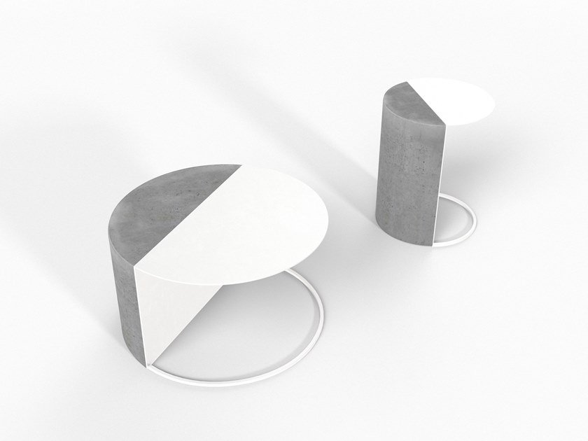 Cement coffee table / bedside table NORMANN by Forma&Cemento