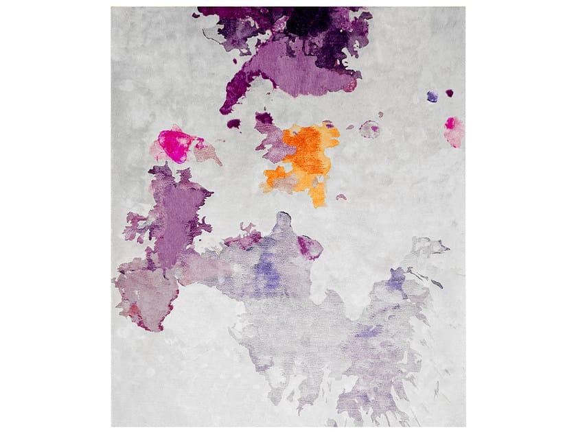 Handmade rectangular rug NORTHERN LIGHTS AYA EDIT by HENZEL STUDIO