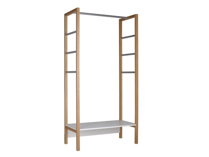 Wooden coat rack NORTHGATE COAT STAND LONG by Woodman