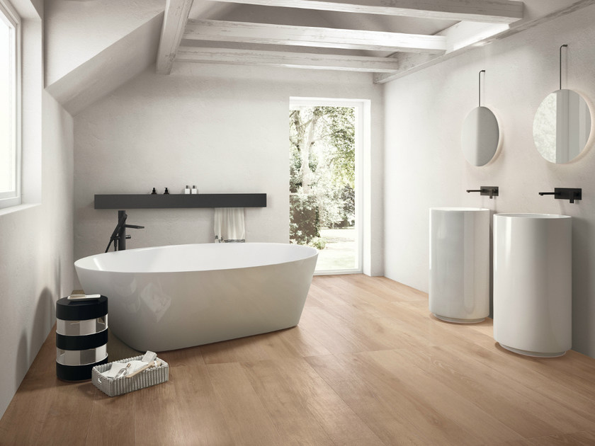 Porcelain stoneware flooring with wood effect NOTE BEIGE by CERAMICHE KEOPE