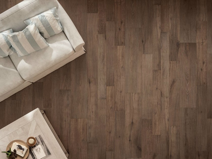 Porcelain stoneware flooring with wood effect NOTE BROWN by CERAMICHE KEOPE