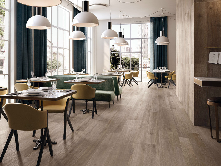 Porcelain stoneware flooring with wood effect NOTE GREY by CERAMICHE KEOPE
