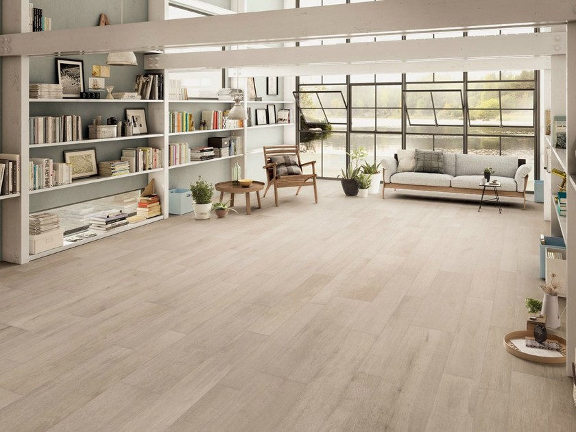 Porcelain stoneware flooring with wood effect NOTE IVORY by CERAMICHE KEOPE